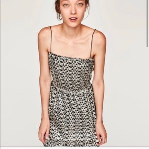 NEW with tags ZARA SILVER DRESS size S must have